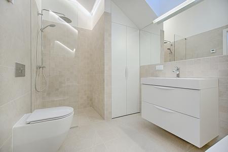 Bathroom floor and wall tiling job done in Echuca with porcelain tiles